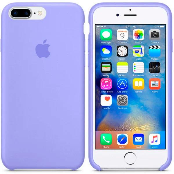 Чехол Silicone Case Full для iPhone 7 Plus / 8 Plus (Glycine)