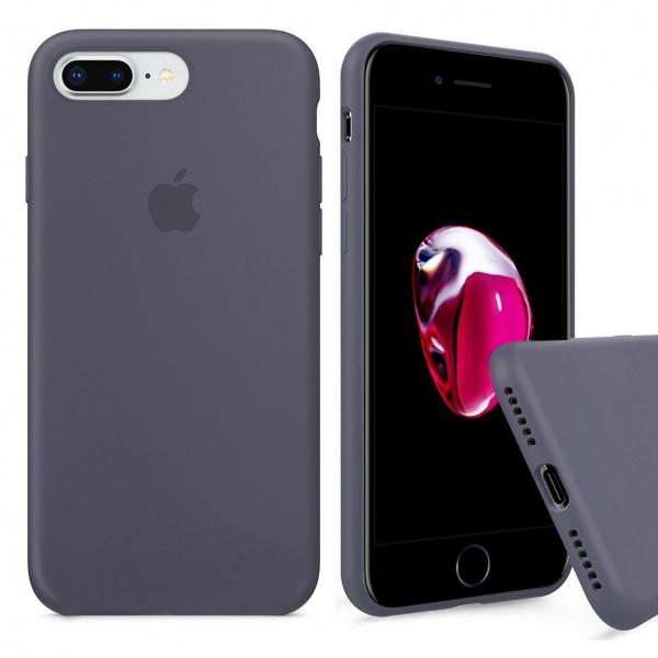 Чехол Silicone Case Full для iPhone 7 Plus / 8 Plus (Lavender Gray)