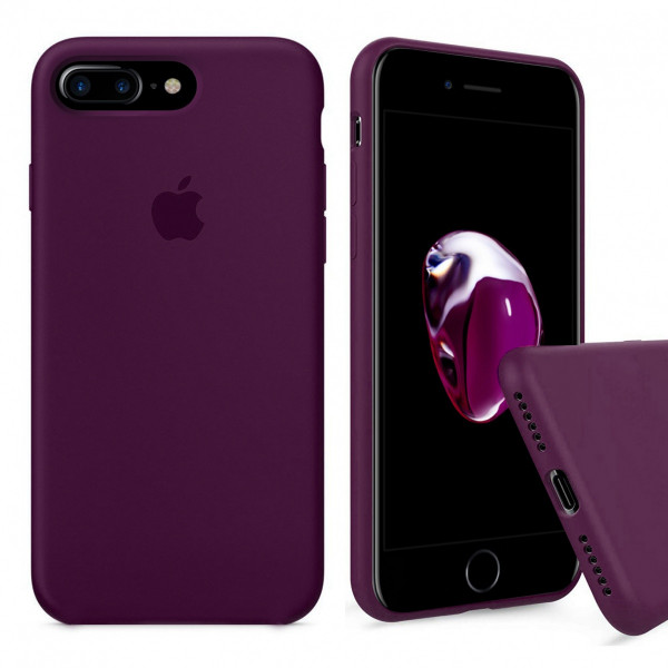 Чехол Silicone Case Full для iPhone 7 Plus / 8 Plus (Marsala)