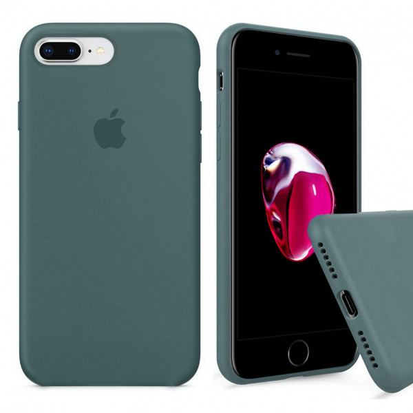 Чехол Silicone Case Full для iPhone 7 Plus / 8 Plus (Pine Green)