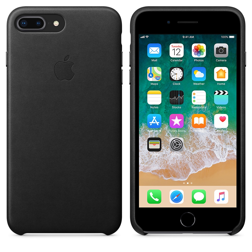 Чехол Good Leather Case для iPhone 7 Plus / 8 Plus (Black)