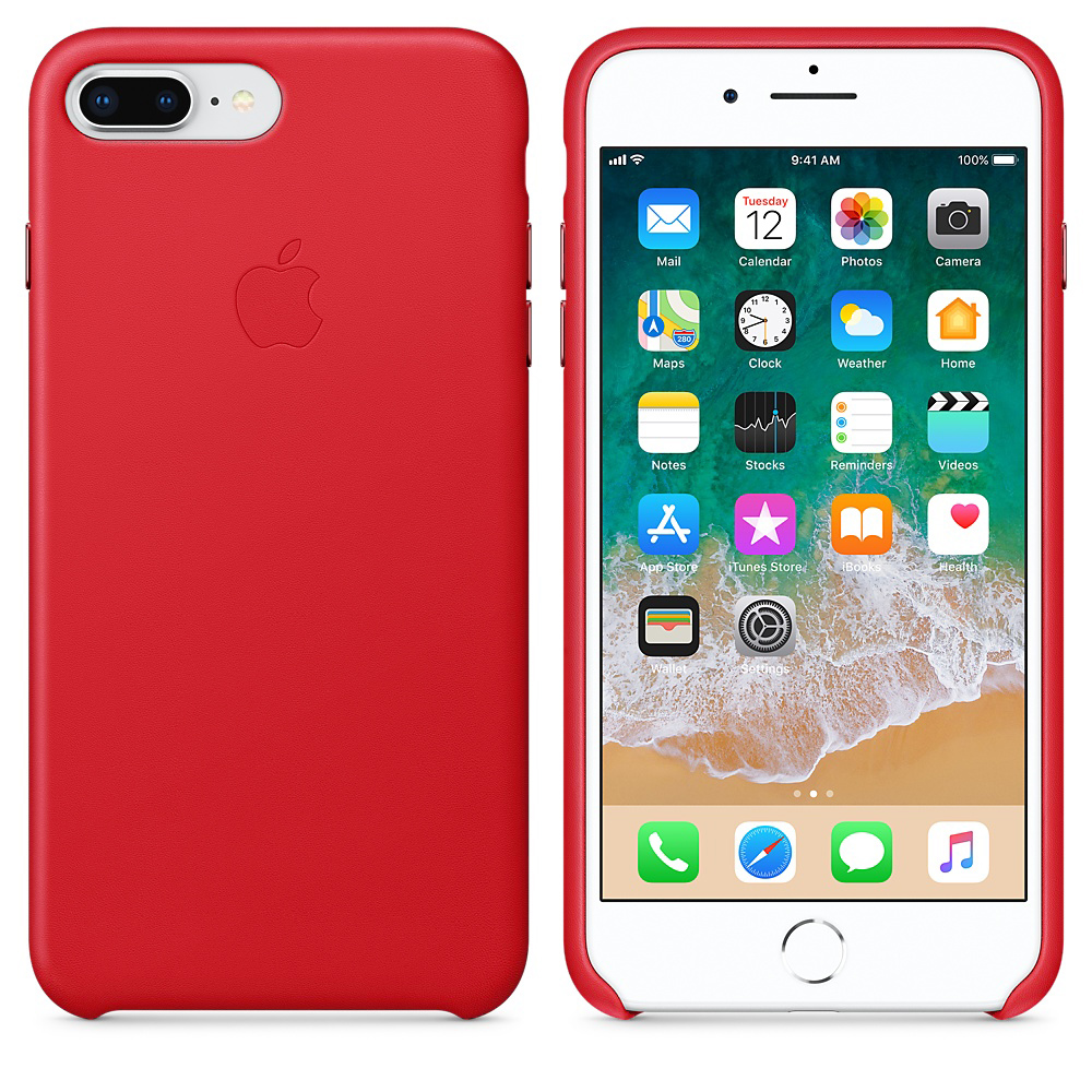 Чехол Good Leather Case для iPhone 7 Plus / 8 Plus (Red)