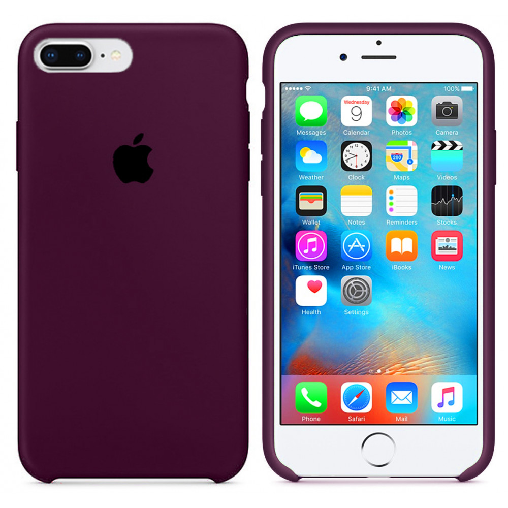 Чехол Silicone Case для iPhone 7 Plus/8 Plus Marsala OEM