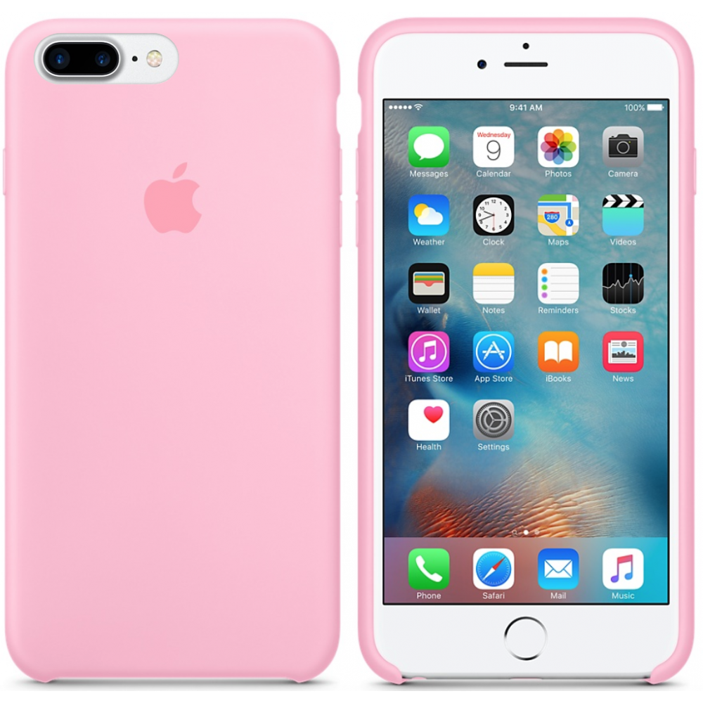 Чехол Silicone Case для iPhone 7 Plus/8 Plus Pink OEM