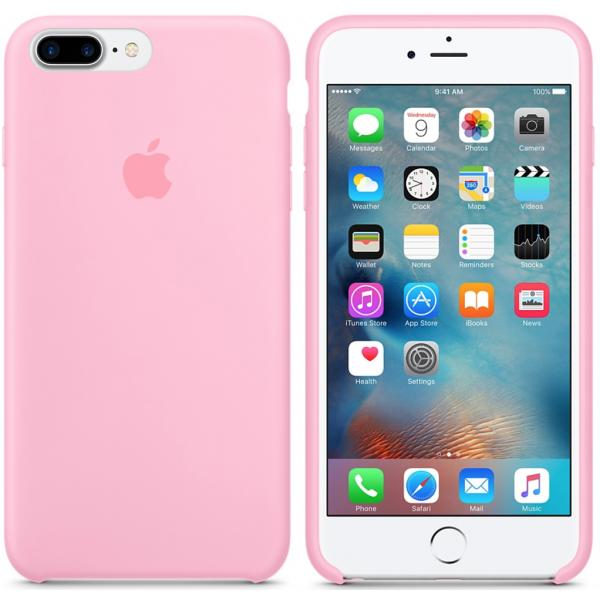 Чехол Silicone Case для iPhone 7 Plus/8 Plus Pink OEM