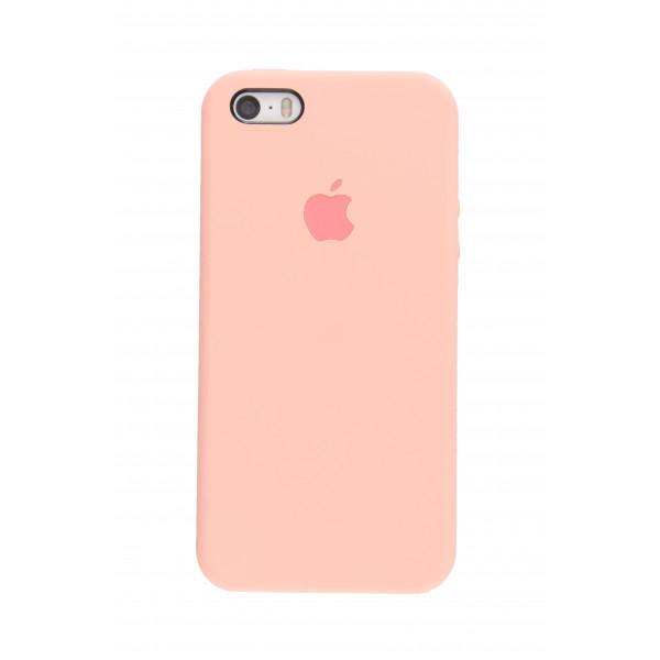Чехол для iPhone SE / 5s / 5 Silicone Case (light pink)