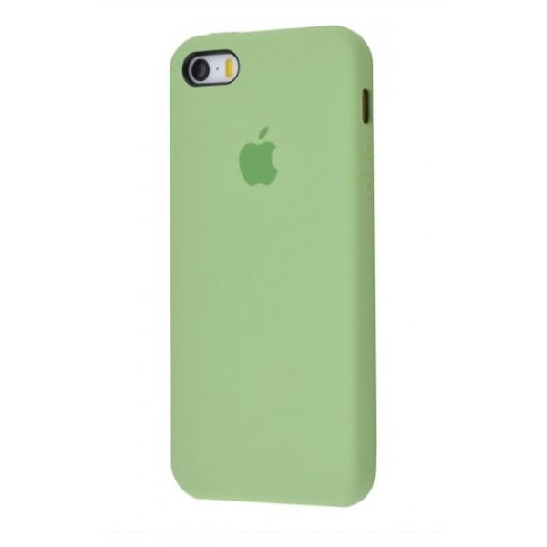 Чехол для iPhone SE / 5s / 5 Silicone Case (mint gum)