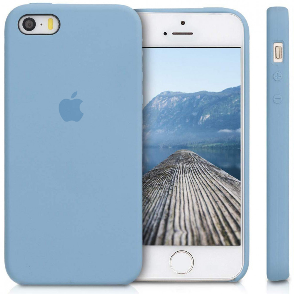 Чехол Silicone Case для iPhone SE / 5s / 5 (Cornflower)