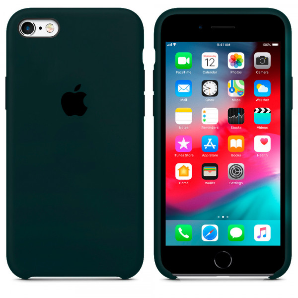 Чехол Silicone Case для iPhone SE / 5s / 5 (Forest Green)