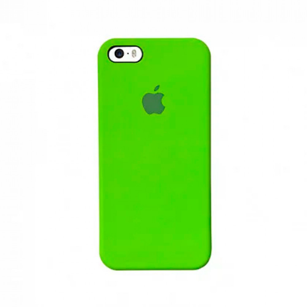Чехол Silicone Case для iPhone SE / 5s / 5 (Lime Green)