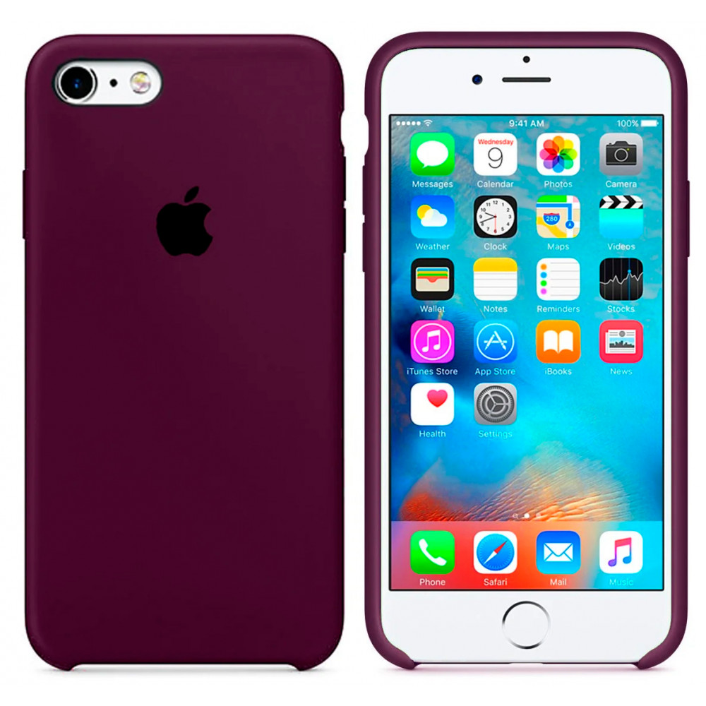 Чехол Silicone Case для iPhone SE / 5s / 5 (Marsala)
