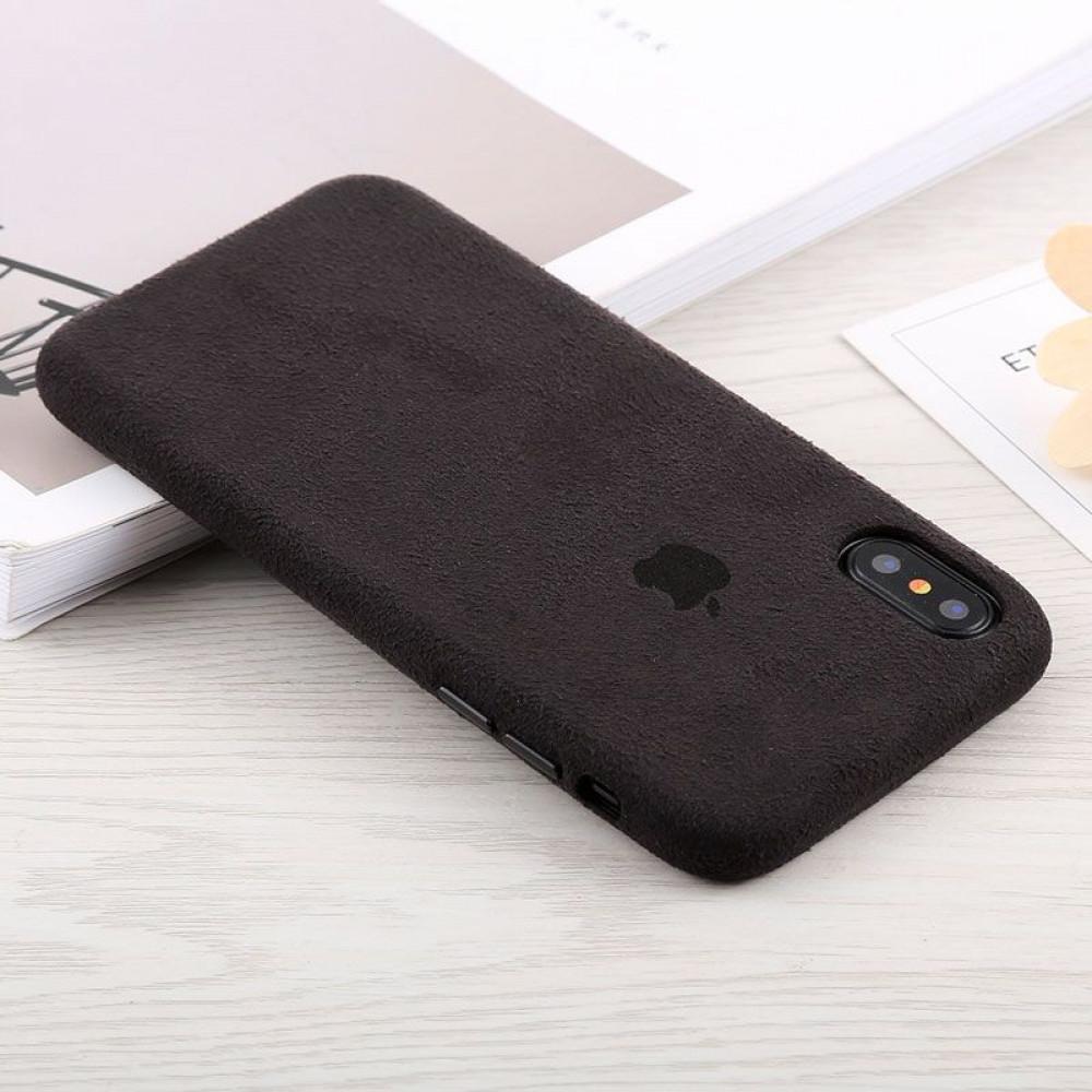 Замшевый чехол для iPhone XR Alcantara (Black)