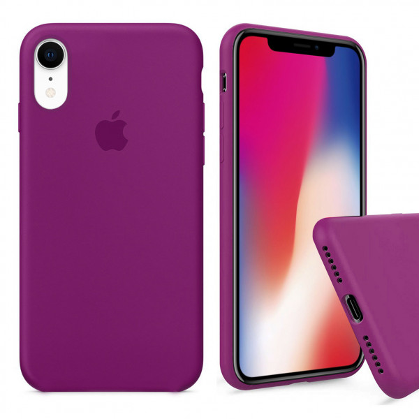 Чехол Silicone Case Full для iPhone XR (Dragon Fruit)