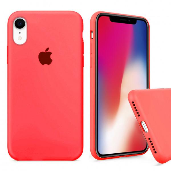 Чехол Silicone Case Full для iPhone XR (Electric Pink)