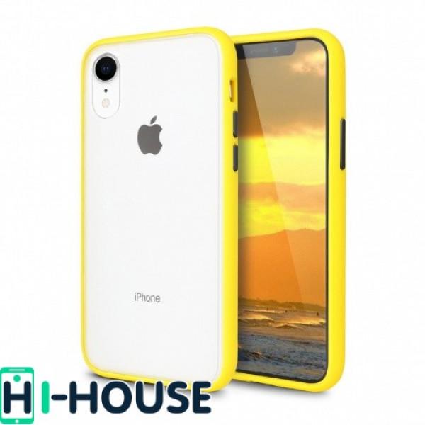 Чехол Gingle Series Case на iPhone Xr (Yellow Black)