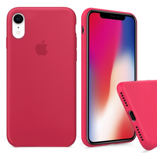 Чехол Silicone Case Full для iPhone XR (Red Raspberry)