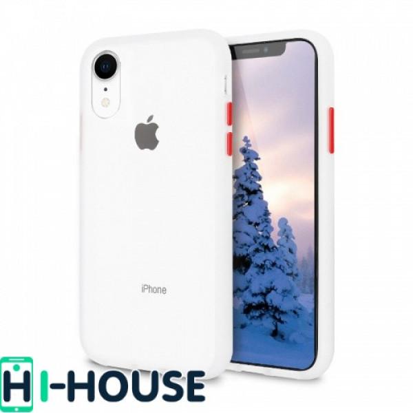 Чехол Gingle Series Case на iPhone Xr (Transparent Red)