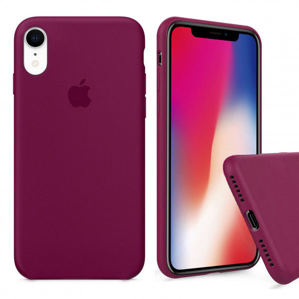 Чехол Silicone Case Full для iPhone XR (Rose Red)