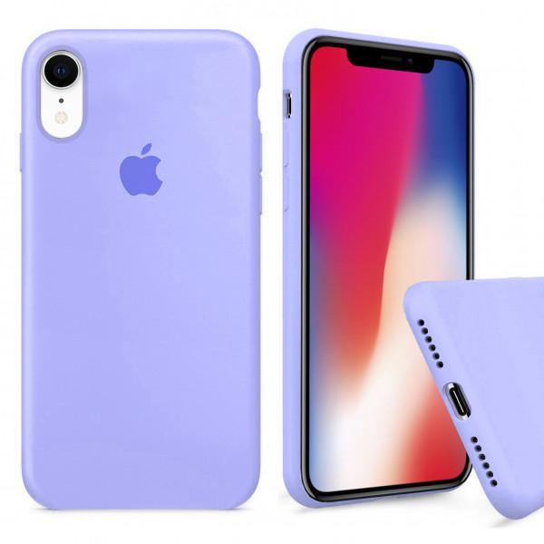 Чехол Silicone Case Full для iPhone XR (Lilac Cream)