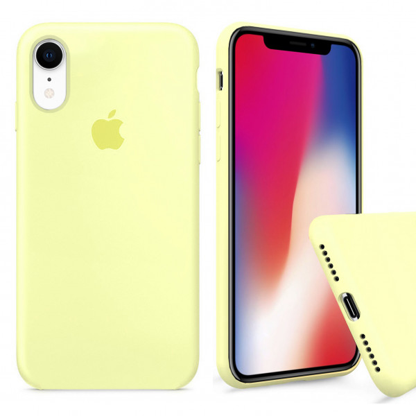 Чехол Silicone Case Full для iPhone XR (Mellow Yellow)