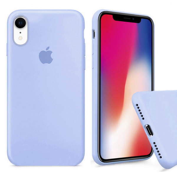 Чехол Silicone Case Full для iPhone XR (Sea Blue)