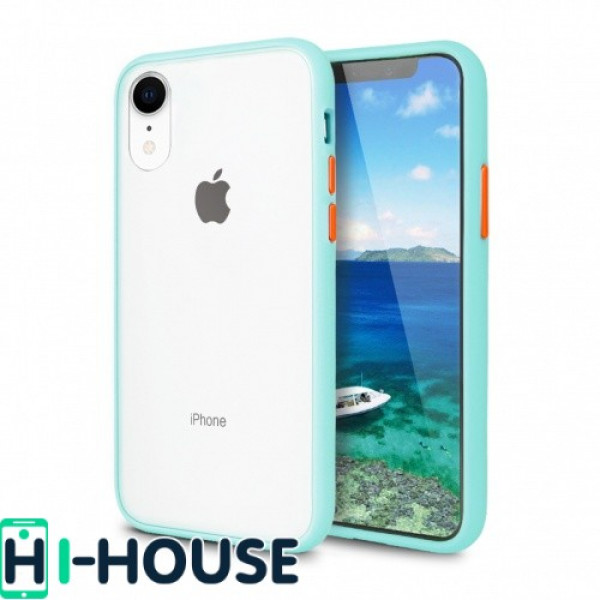 Чехол Gingle Series Case на iPhone Xr (Light Blue Orange)