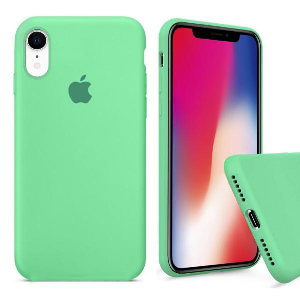 Чехол Silicone Case Full для iPhone XR (Spearmint)