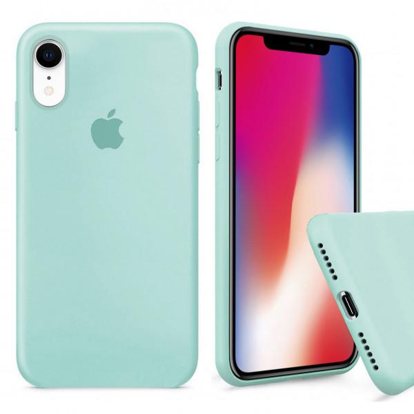 Чехол Silicone Case Full для iPhone XR (Mint)