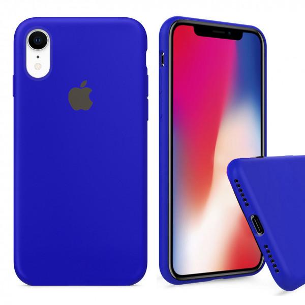 Чехол Silicone Case Full для iPhone XR (Ultramarine)