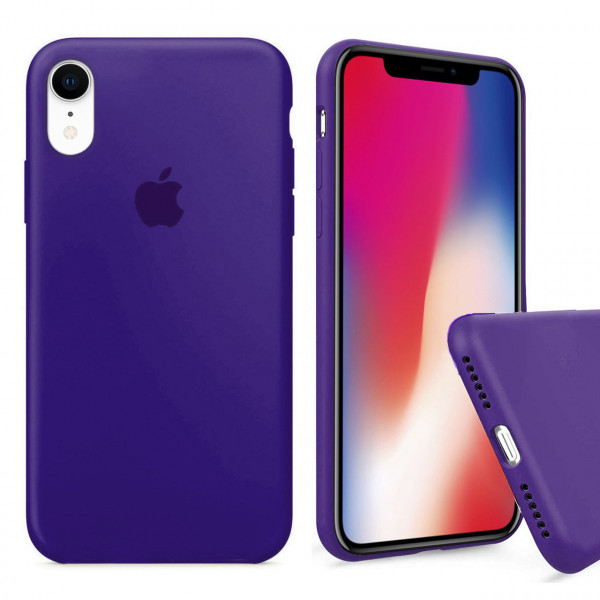 Чехол Silicone Case Full для iPhone XR (Ultra Violet)