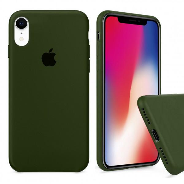 Чехол Silicone Case Full для iPhone XR (Oliva)