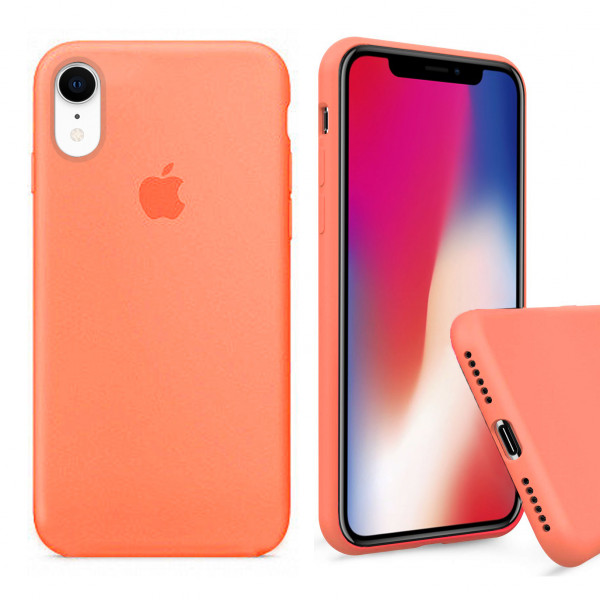 Чехол Silicone Case Full для iPhone XR (Papaya)