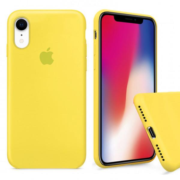Чехол Silicone Case Full для iPhone XR (Canary Yellow)