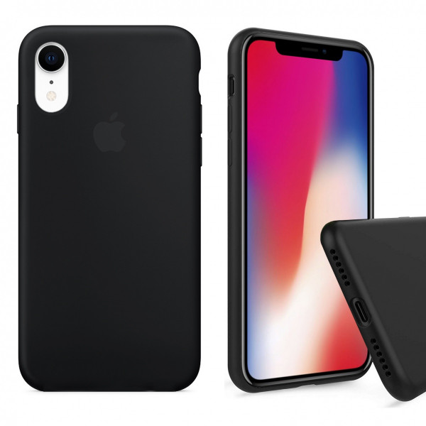 Чехол Silicone Case Full для iPhone XR (Black)