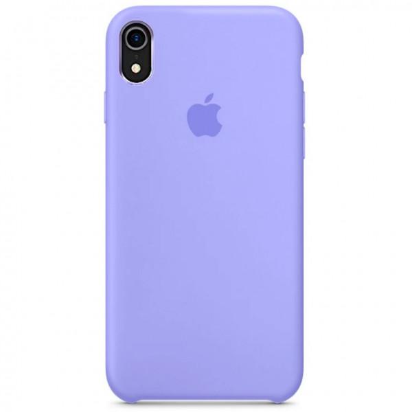 Чехол Silicone Case Full для iPhone XR (Glycine)