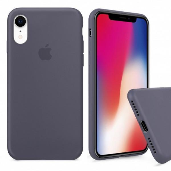 Чехол Silicone Case Full для iPhone XR (Lavender Gray)