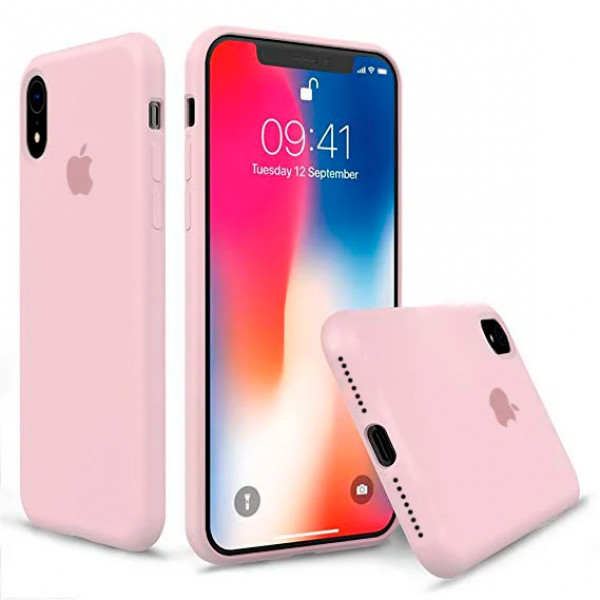 Чехол Silicone Case Full для iPhone XR (Pink Sand)