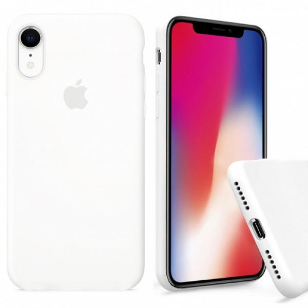 Чехол Silicone Case Full для iPhone XR (White)