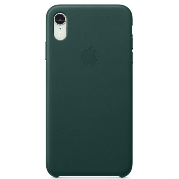 Чехол Good Leather Case для iPhone XR (Forest Green)