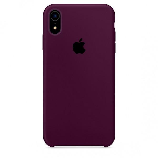 Чехол Silicone Case для iPhone XR (Marsala) OEM
