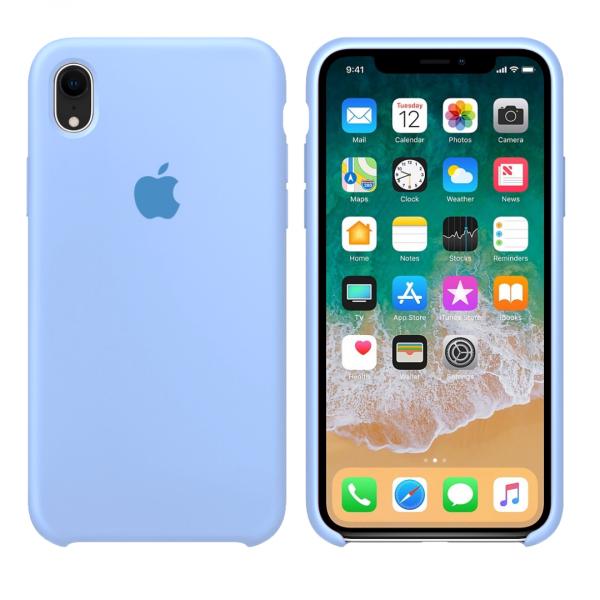 Чехол Silicone Case для iPhone XR (Sky Blue) OEM