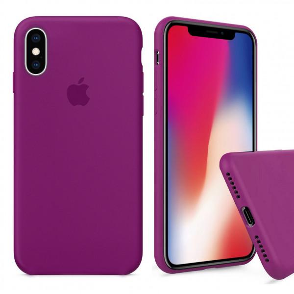 Чехол Silicone Case Full для iPhone XS / X (Dragon Fruit)