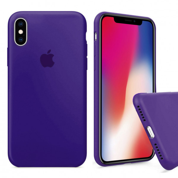 Чехол Silicone Case Full для iPhone XS / X (Purple)