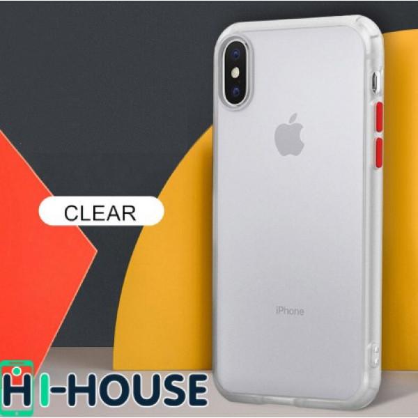 Чехол Gingle Series Case на iPhone Xs/X (Transparent Red)