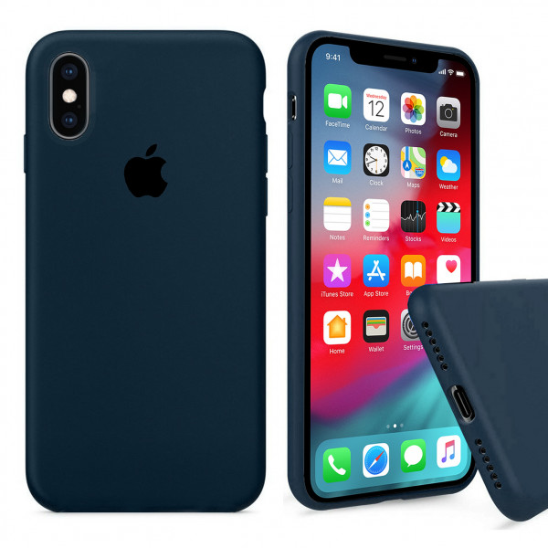 Чехол Silicone Case Full для iPhone XS / X (Forest Green)