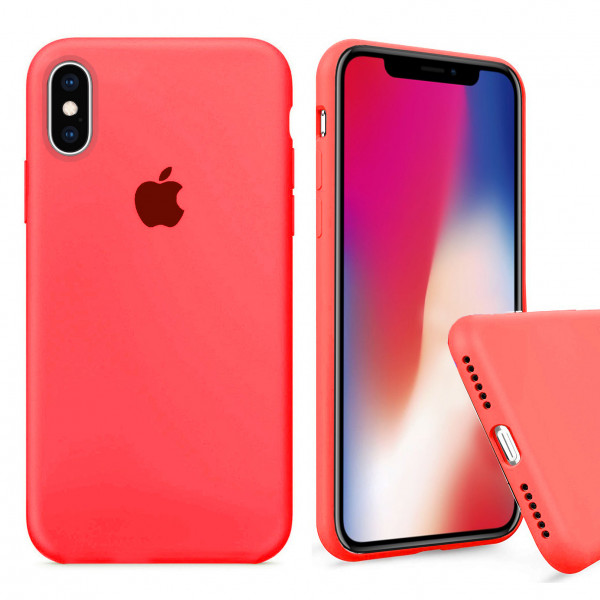 Чехол Silicone Case Full для iPhone XS Max (Electric Pink)