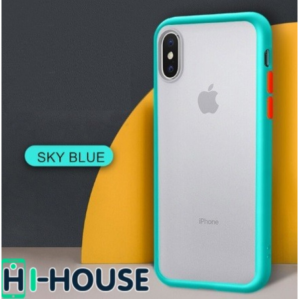 Чехол Gingle Series Case на iPhone Xs/X (Light Blue Orange)