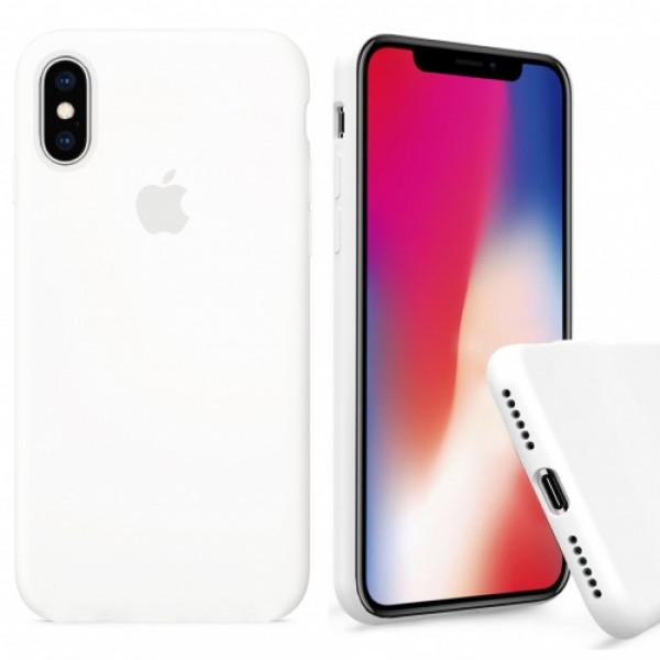 Чехол Silicone Case Full для iPhone XS / X (White)