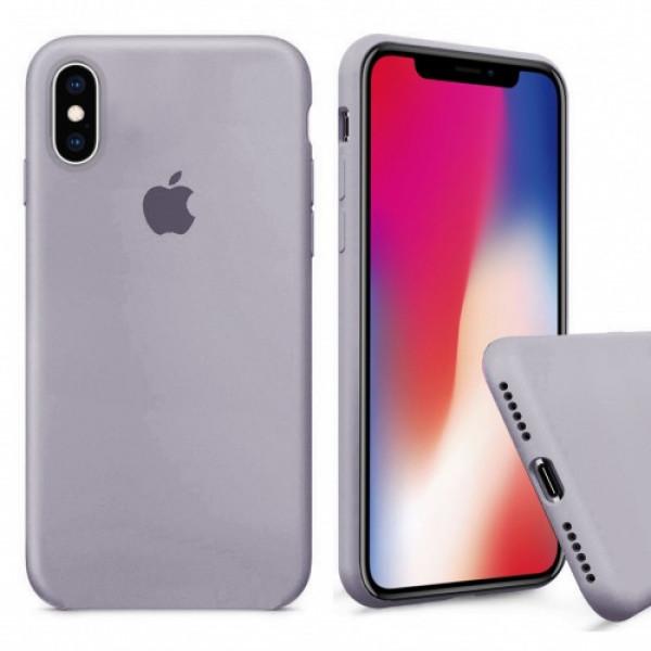 Чехол Silicone Case Full для iPhone XS Max (Lavender)