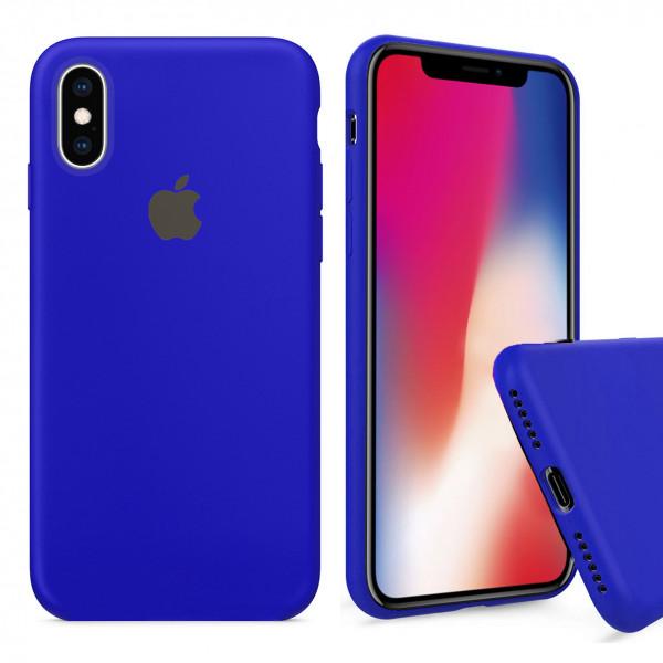 Чехол Silicone Case Full для iPhone XS / X (Ultramarine)